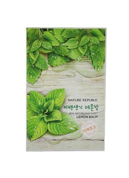 Nature Republic Real Natur Mask Sheet Lemon Balm (Tuchmaske mit Zitronenmelisse)