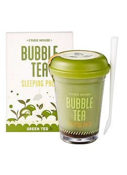 Etude House Bubble Tea Sleeping Pack 100g (Green Tea / Grüntee)