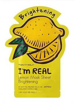 TONY MOLY I'm Real Lemon Mask Sheet Brightening (Tuchmaske mit Zitronen-Extrakt)