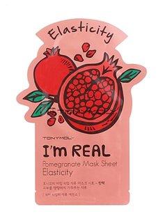 TONY MOLY I'm Real Pomegranate Mask Sheet Elasticity (Tuchmaske mit Granatapfel-Extrakt)