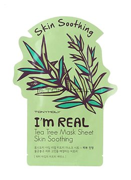 TONY MOLY I'm Real Tea Tree Mask Sheet Skin Soothing (Tuchmaske mit Teebaum-Extrakt)