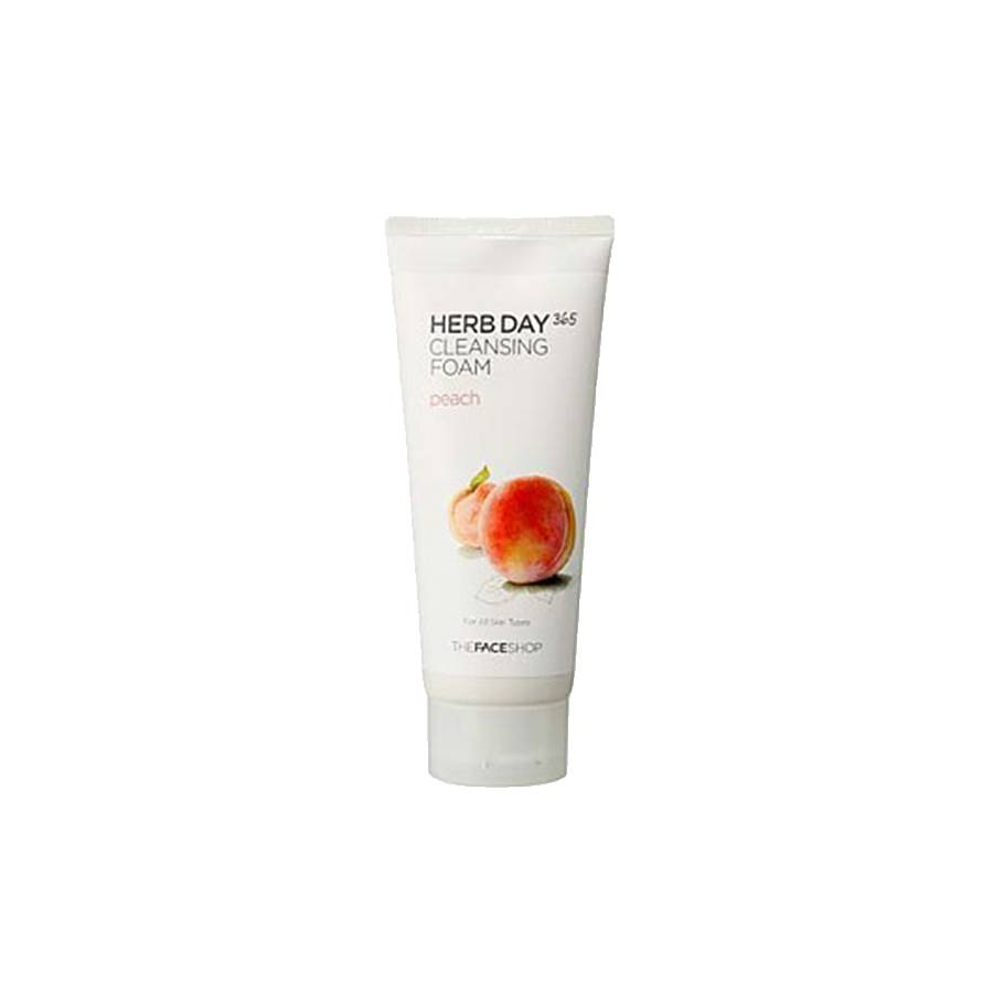 THE FACE SHOP Herb Day 365 Cleansing Foam Peach (170 ml)