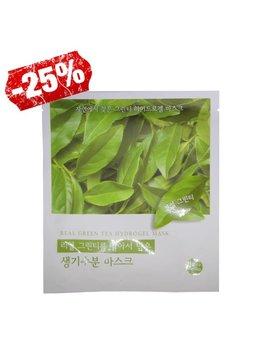 Holika Holika Real Green Tea Hydrogel Mask (Tuchmaske mit Grüntee Extrakt)