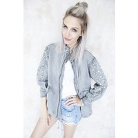 LUCY PEARLS GREY - JACKET