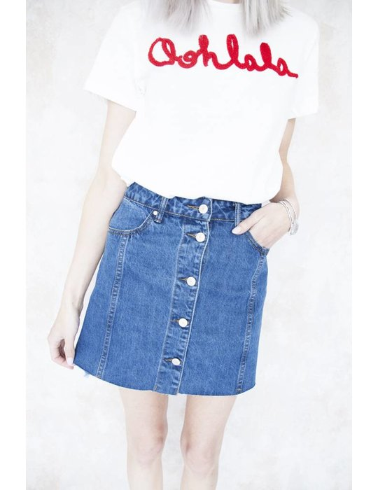 A DENIM SKIRT