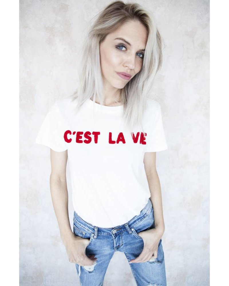 C'EST LA VIE WHITE - T-SHIRT