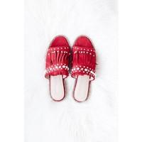 BOBBI RED - SLIPPERS