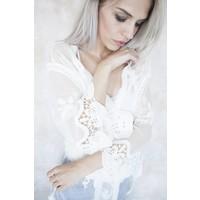 LACED MALINE WHITE - KIMONO