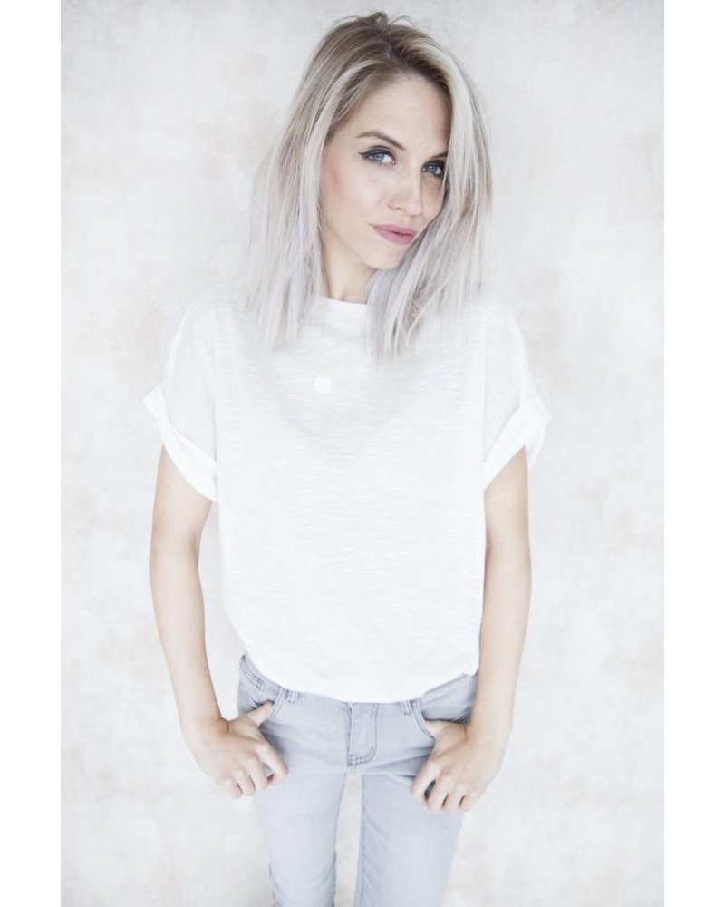 BASIC LONG WHITE - T-SHIRT