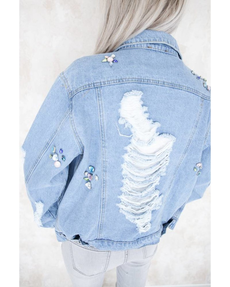 RIPPED JEANS & DIAMONDS - JACKET