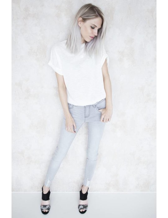 BASIC SKINNY LIGHT GREY