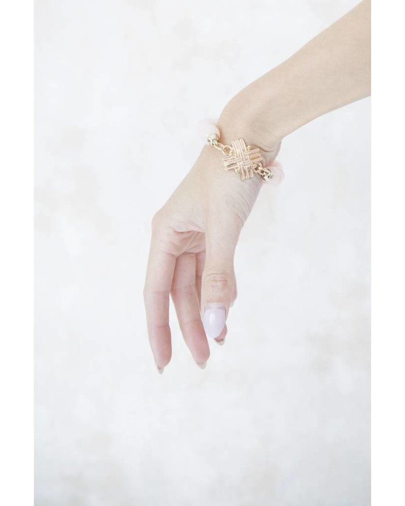 CECILLE CROSSED PINK - ARMBAND