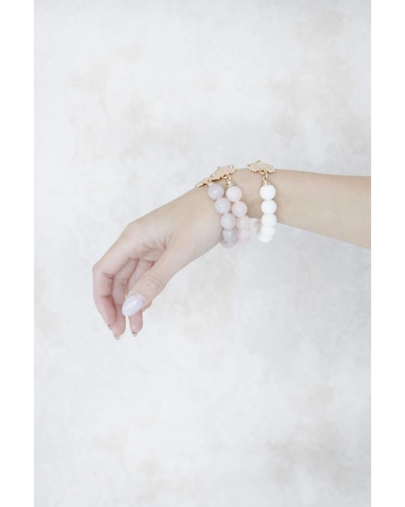 CECILLE CROSSED WHITE - ARMBAND