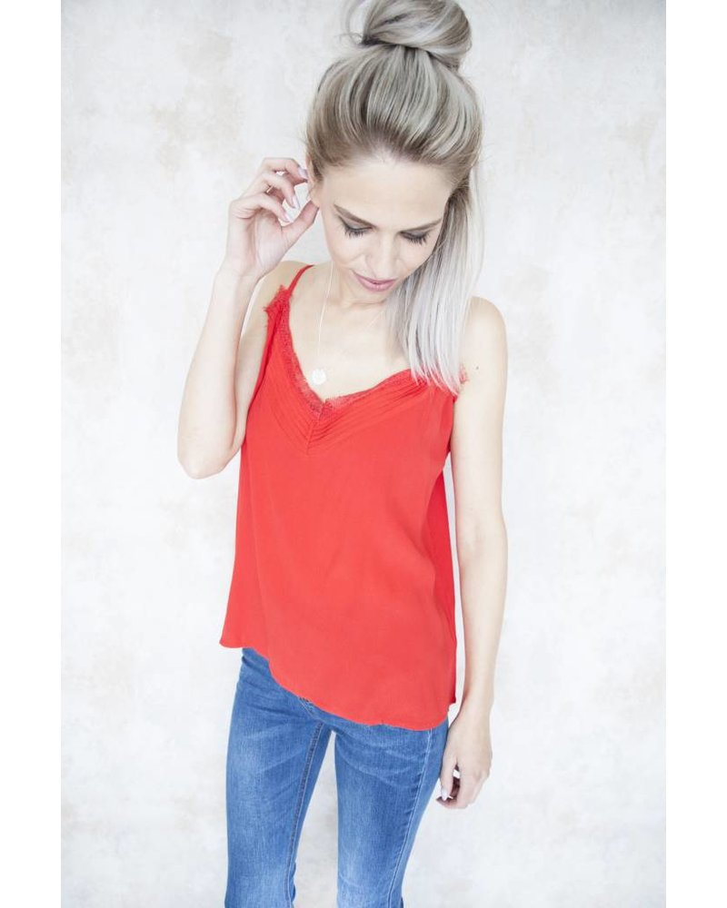 CINDY LACE RED - TOP