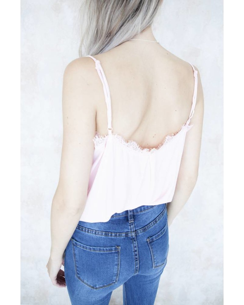 CINDY LACE PINK - TOP