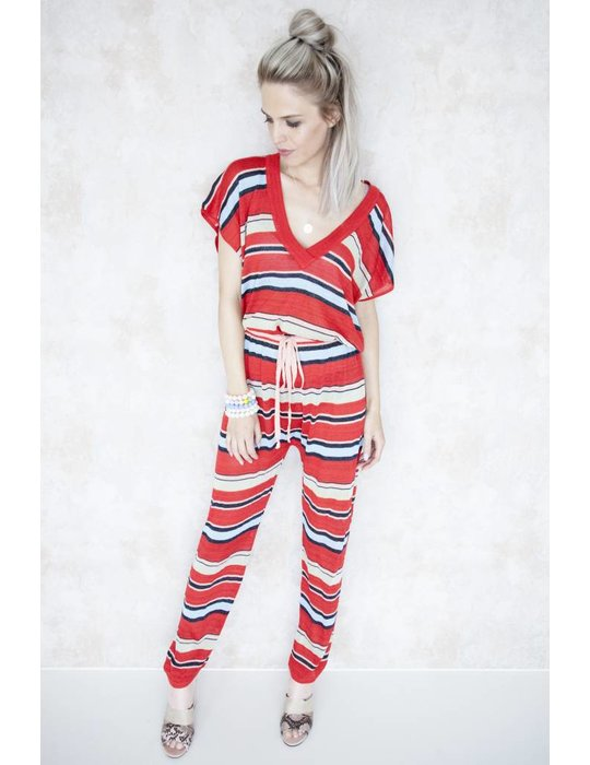 SPENCER STRIPED RED