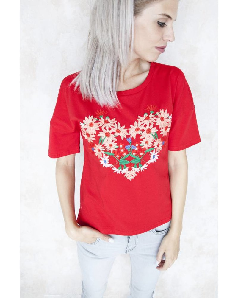 MARIE RED - T-SHIRT