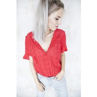 MARIANA RED - BLOUSE