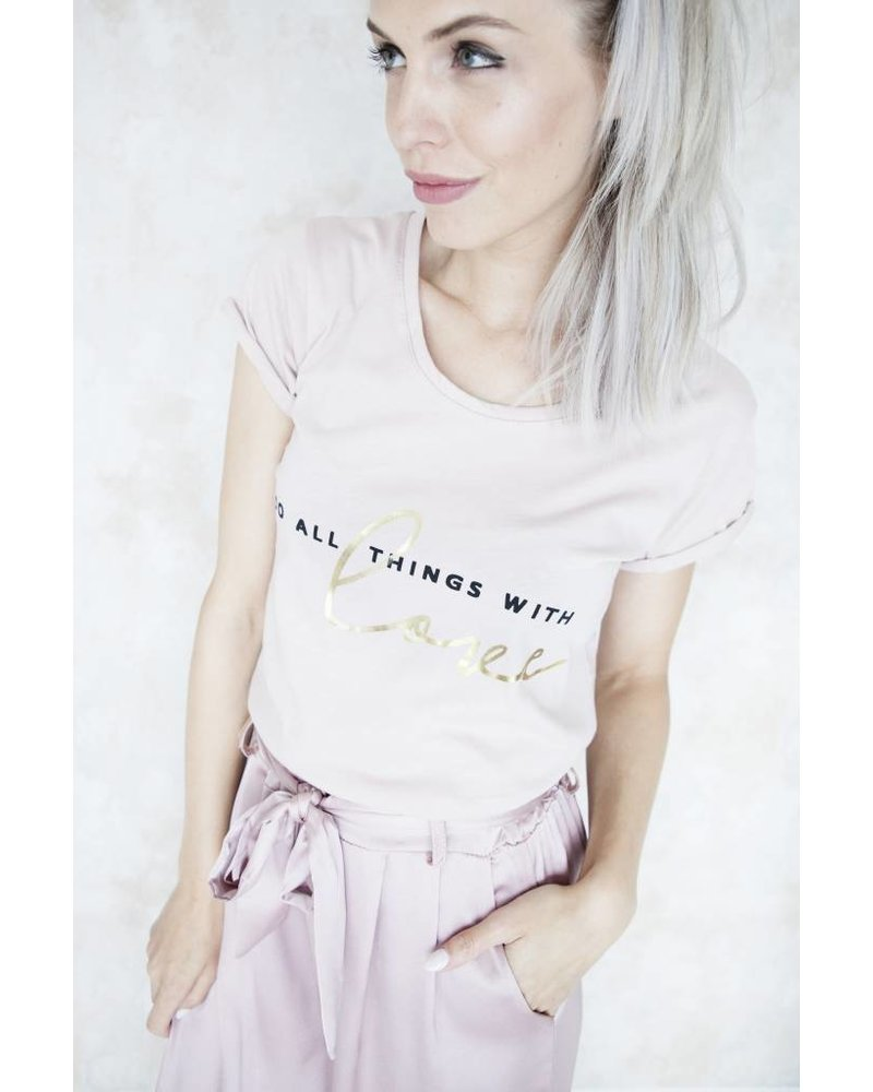 WITH LOVE PINK - T-SHIRT
