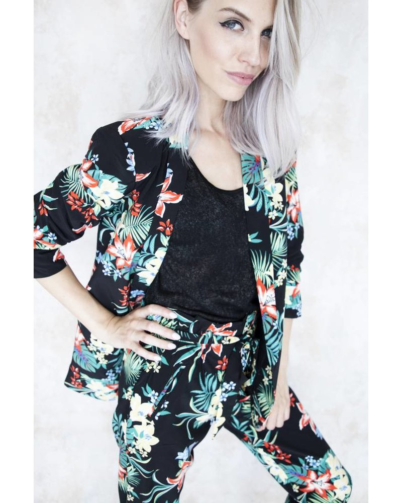 NEED SOME FLOWERS BLACK - BLAZER