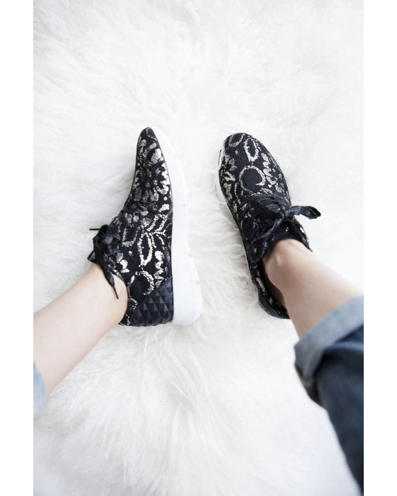 COMFY SILVER FLOWERS - SNEAKERS