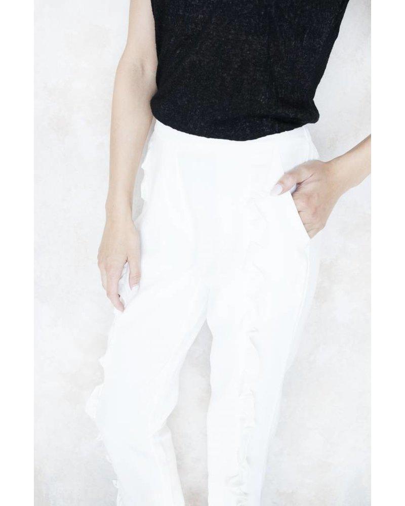 RUSHED WHITE - BROEK