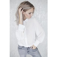 STATEMENT PEARLS SHORT WHITE - BLOUSE