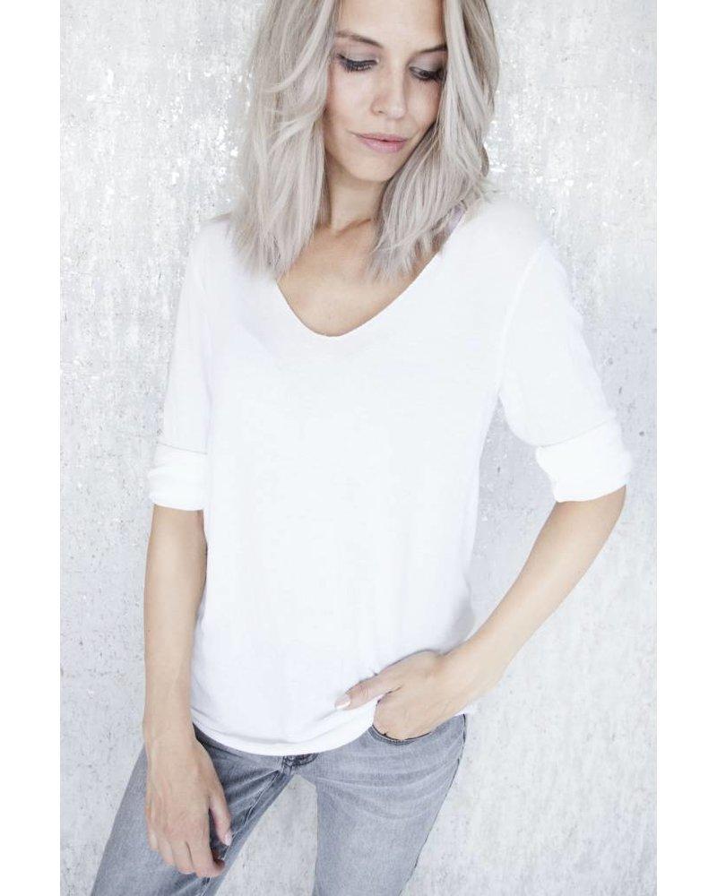 SOFT LINA WHITE - LONGSLEEVE