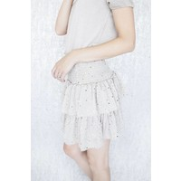 GOLDEN SPARKLES CREAM - SKIRT