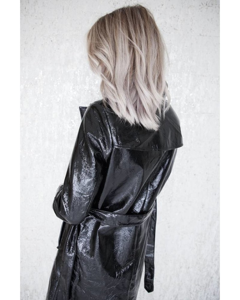 PARKA LACQUER BLACK - JACKET