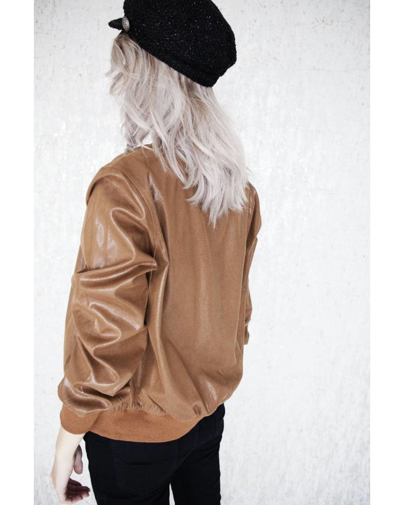 CLASSY BOMBER BROWN - JACKET