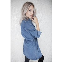 LONG DENIM - JACKET