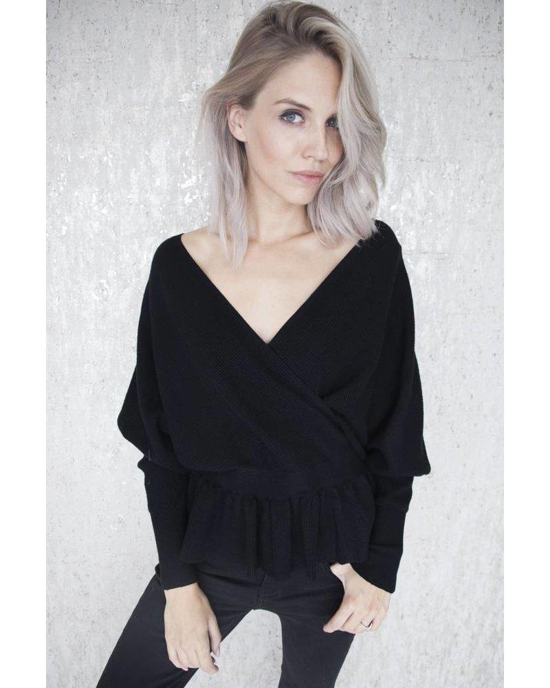 COZY MINA BLACK - SWEATER