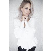 COZY MINA WHITE - SWEATER