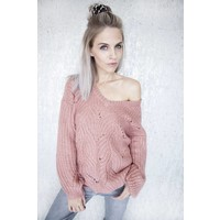 MARIE KNIT OLD PINK - TRUI