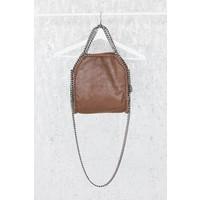 CHAIN BAG SMALL BROWN - HANDTAS