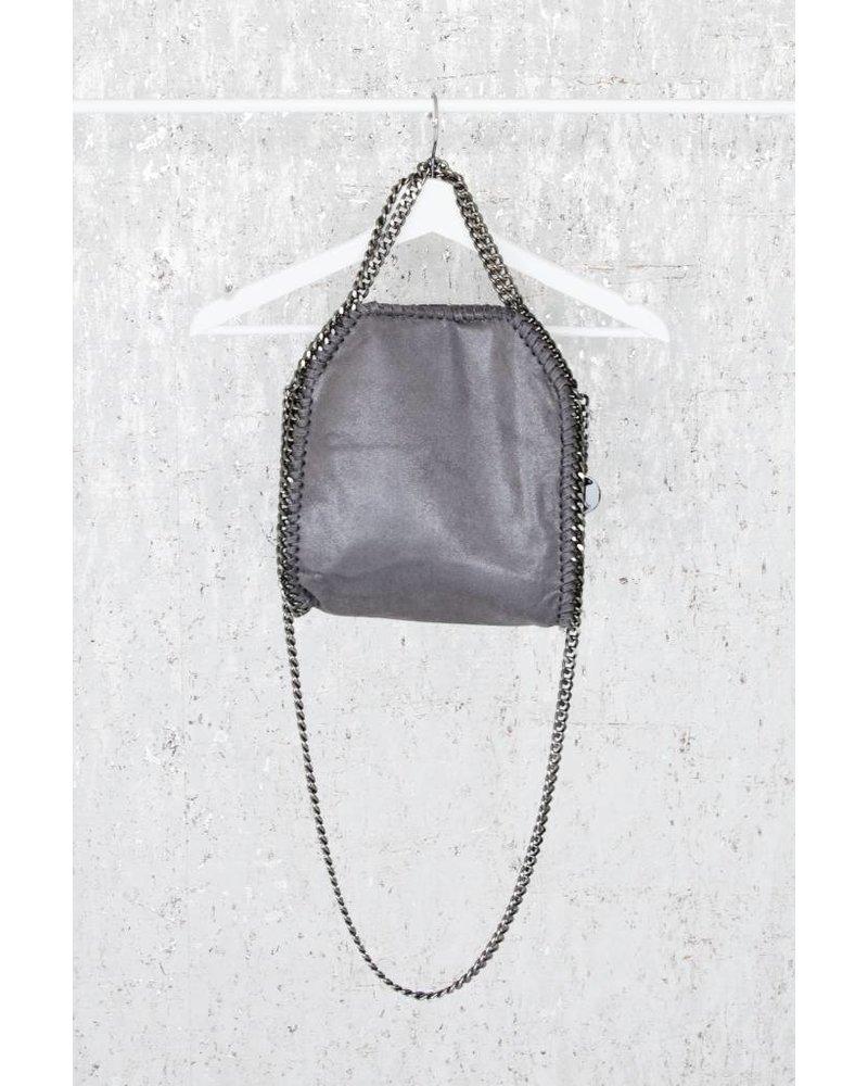 CHAIN BAG SMALL GREY - HANDTAS