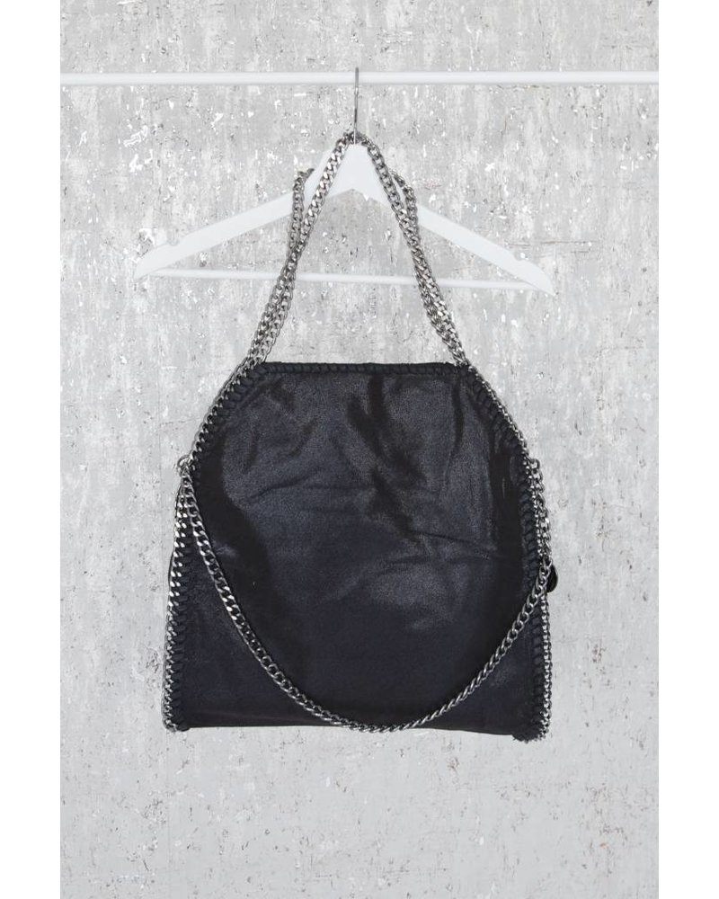 CHAIN BAG XL BLACK - HANDBAG