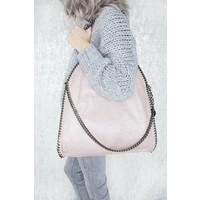 CHAIN BAG XL PINK - HANDTAS