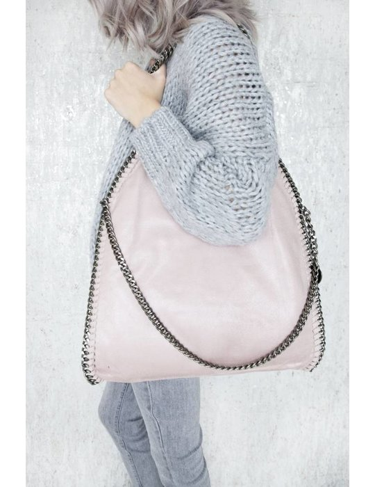 ellemilla CHAIN BAG XL PINK