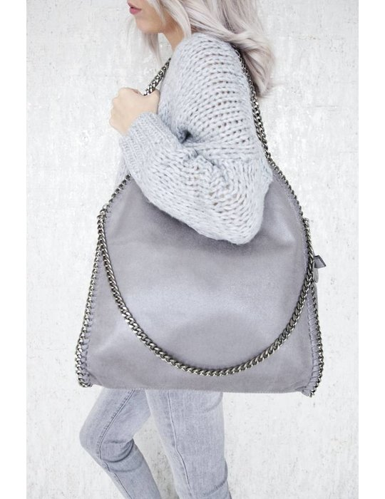 ellemilla CHAIN BAG XL GREY