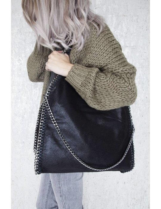 ellemilla CHAIN BAG XL BLACK