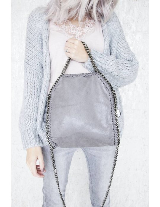 ellemilla CHAIN BAG SMALL GREY