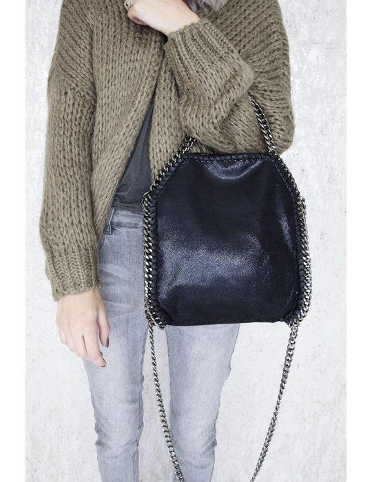 ellemilla CHAIN BAG SMALL BLACK
