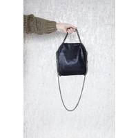 CHAIN BAG SMALL BLACK - HANDTAS