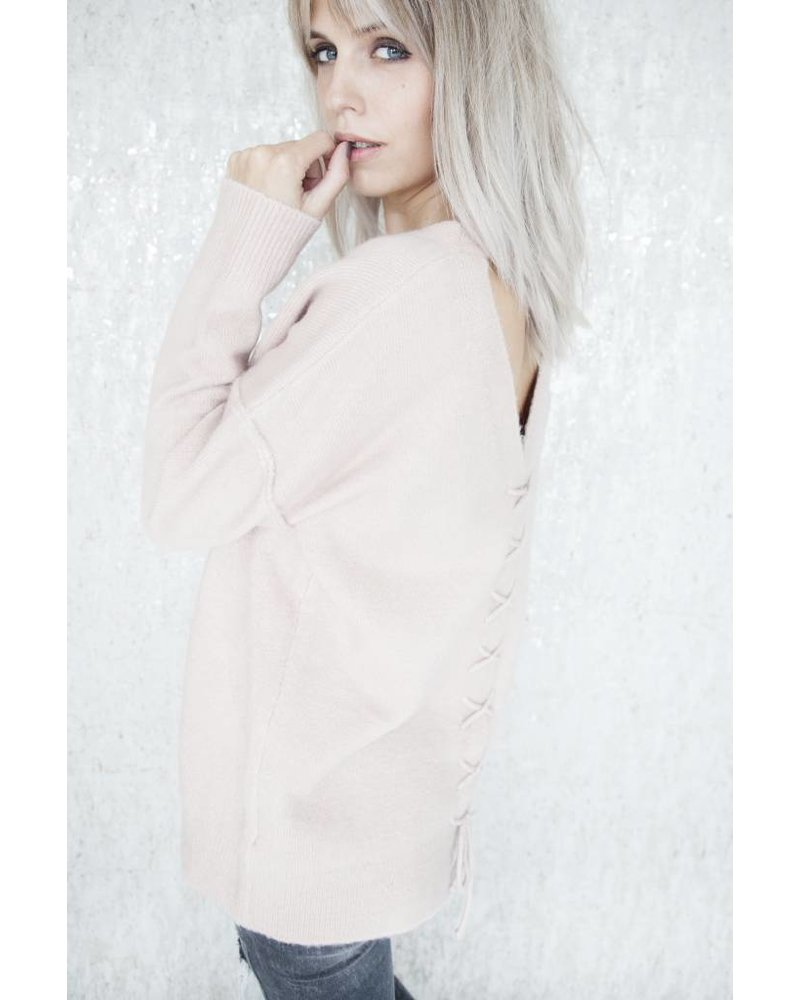 COZY CROSSED BACK PINK - TRUI