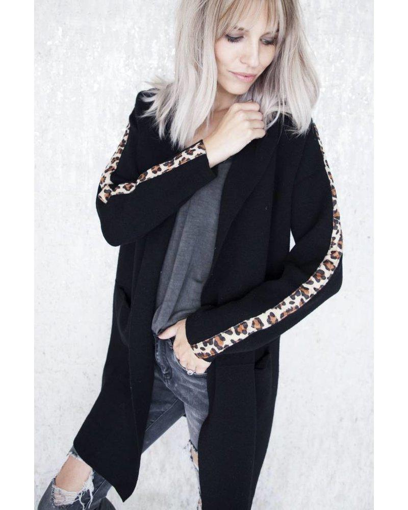ISABELLA LEOPARD BLACK - GILET