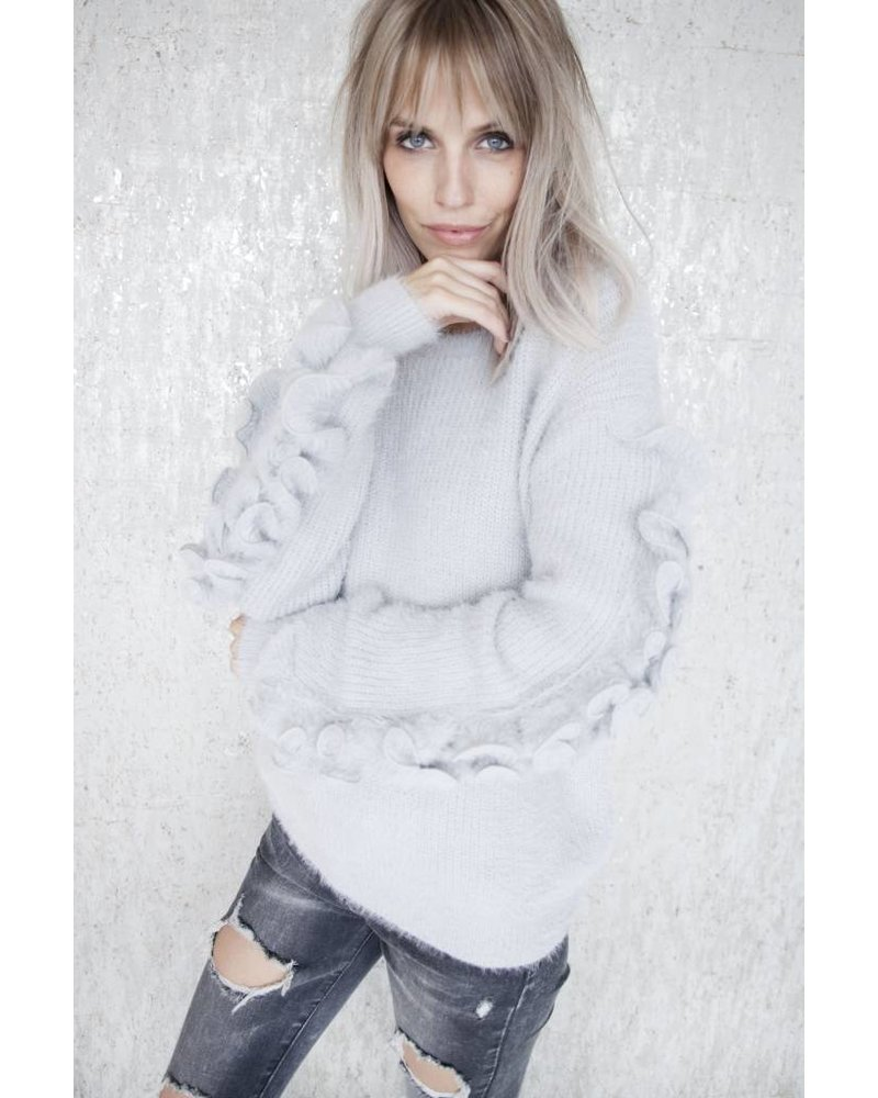 SOFT RUSHES GREY - SWEATER