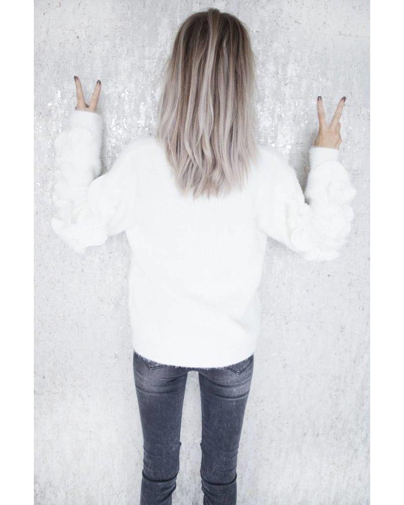 SOFT RUSHES WHITE - SWEATER