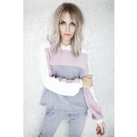 COMFY ALL THE WAY GREY/PINK - SET 2